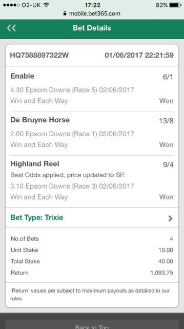 3 winning tips out of 3